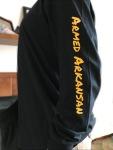 Armed Arkansas sleeve yellow on black blurred